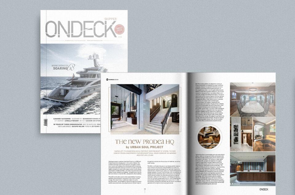 PRODEA HQ in ON DECK magazine [winter 2021 issue]